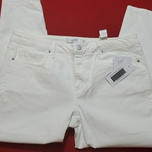 NWR! Just Fab White Jeans, size 34